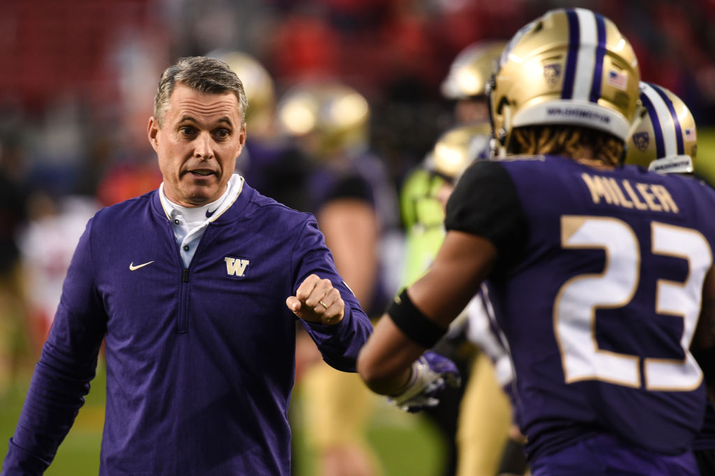 chris petersen washington head coach salary