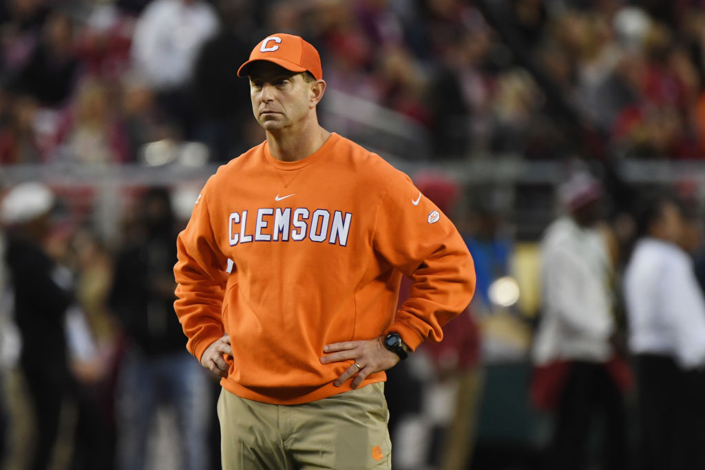 dabo swinny clemson coach salary