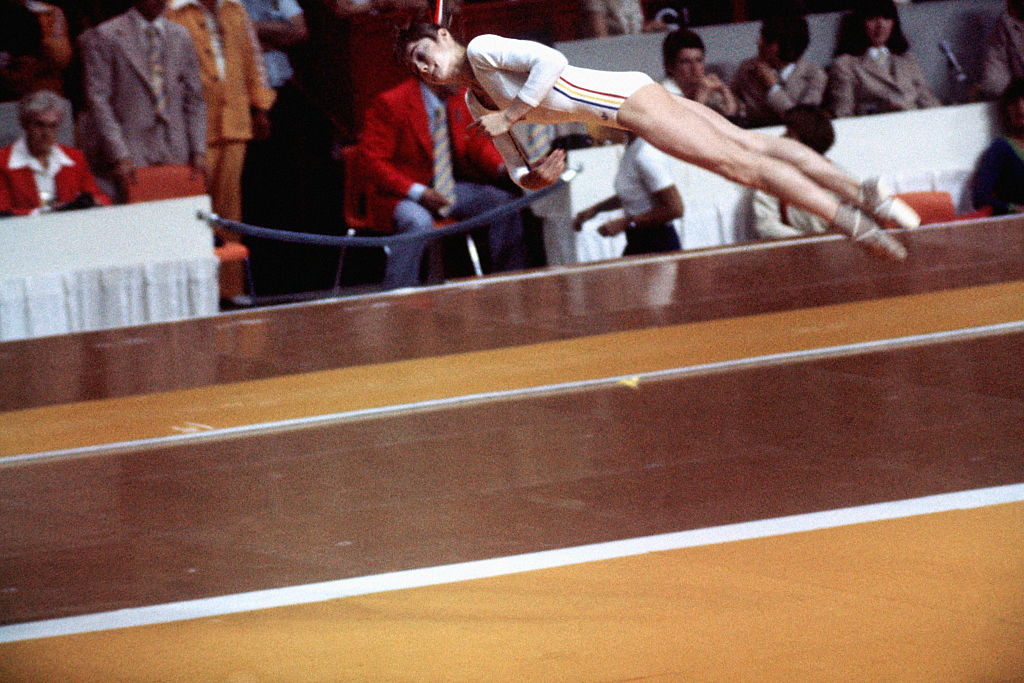 Nadia Comaneci olympic routine montreal 1976