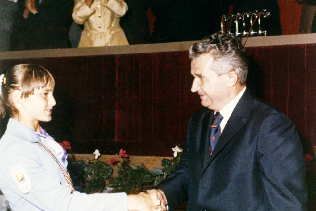 nadia comaneci and romanian president