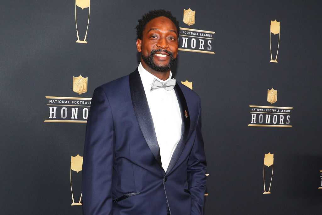 Charles Tillman poses for Photographs on the Red Carpet at NFL Honors during Super Bowl LII week