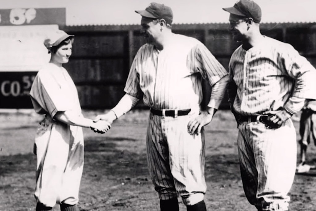 jackie mitchell female sports pioneer mlb babe ruth lou gehrig