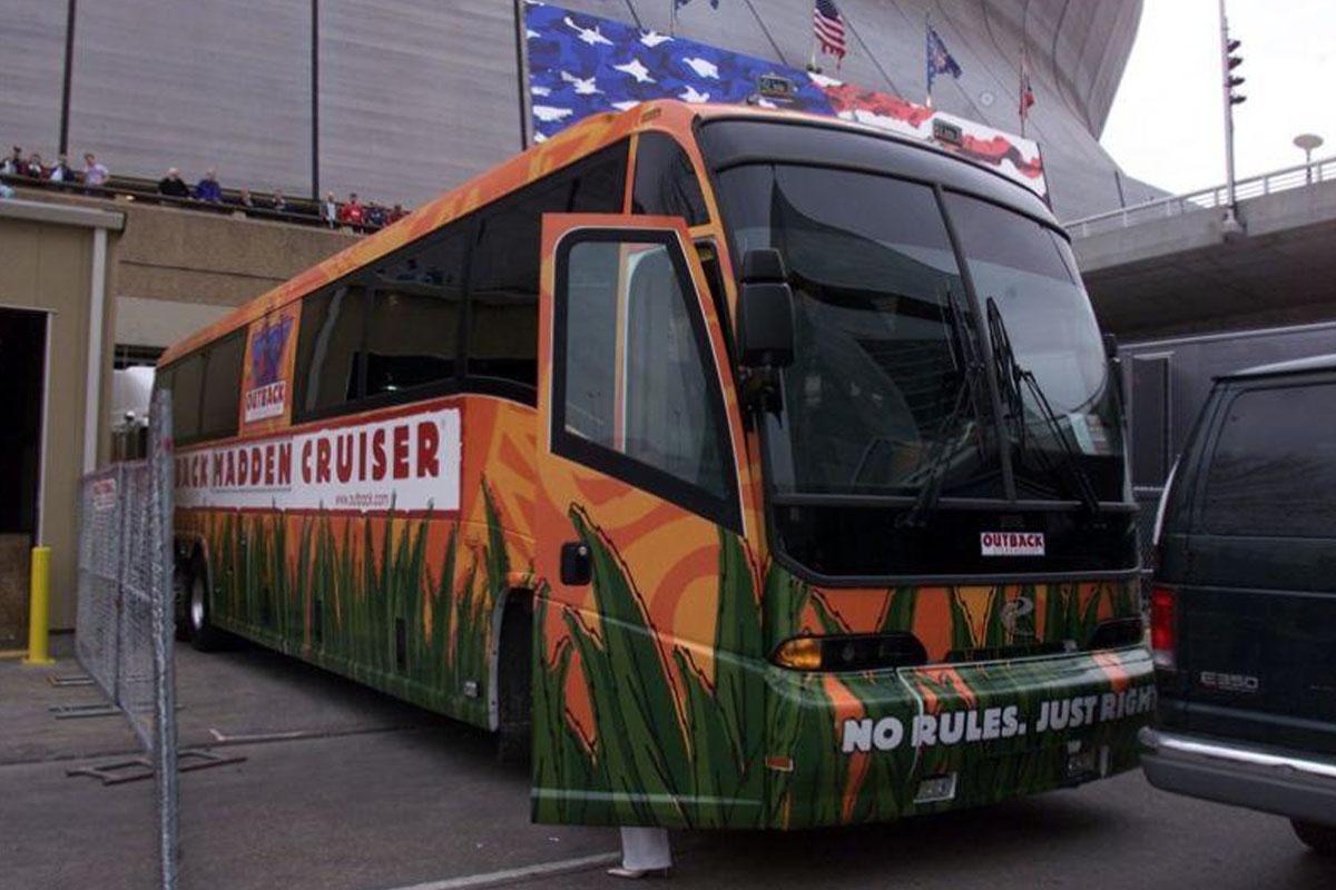 john madden tour bus