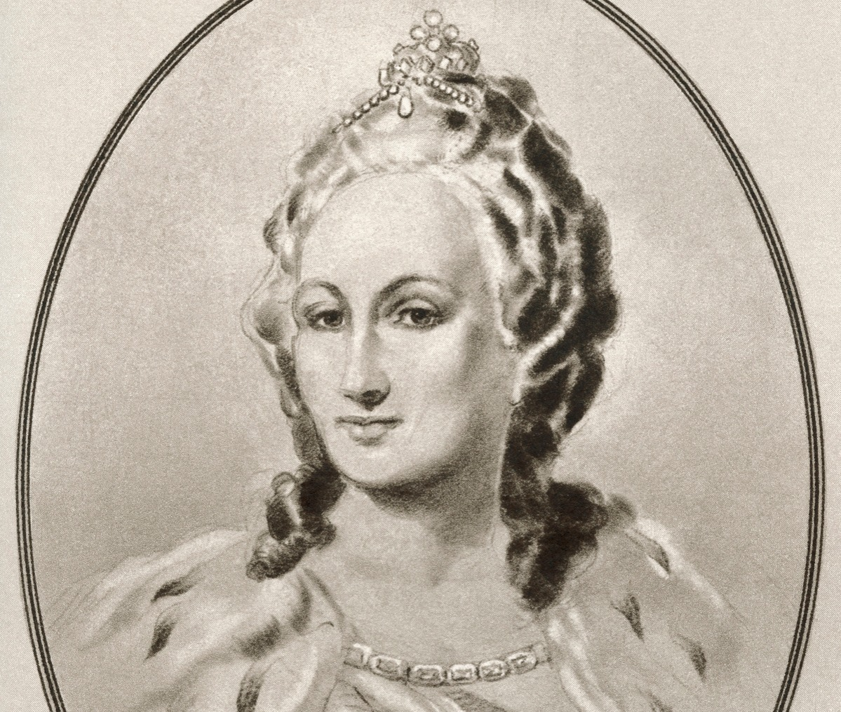 Catherine II, 1729 - 1796, aka Catherine the Great was born as Prussian Sophie von Anhalt-Zerbst