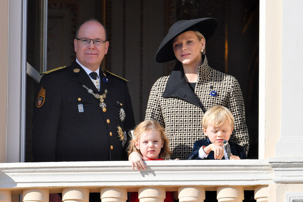 Prince Albert II of Monaco, Princess Charlene of Monaco, Princess Gabriella of Monaco and Prince Jacques of Monaco