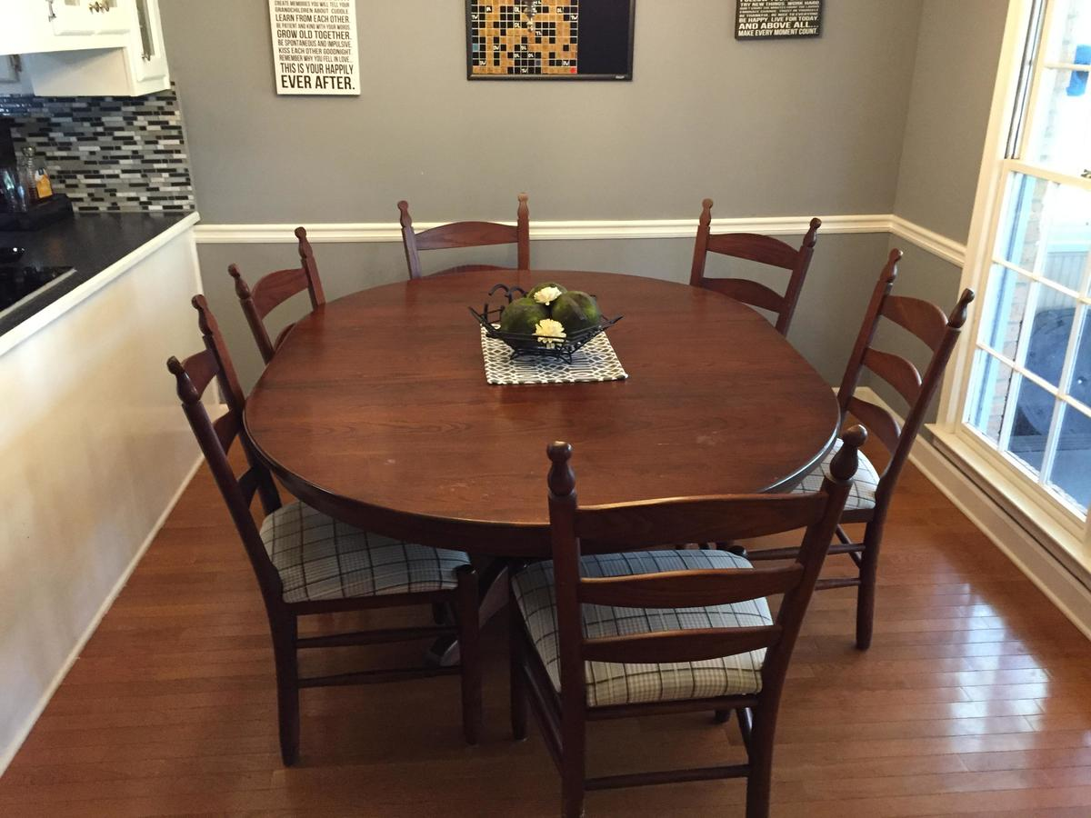 a bland dining room table
