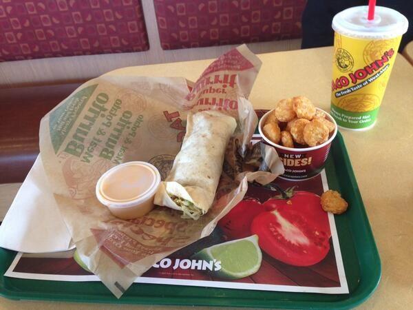 Combo meal at Taco John's