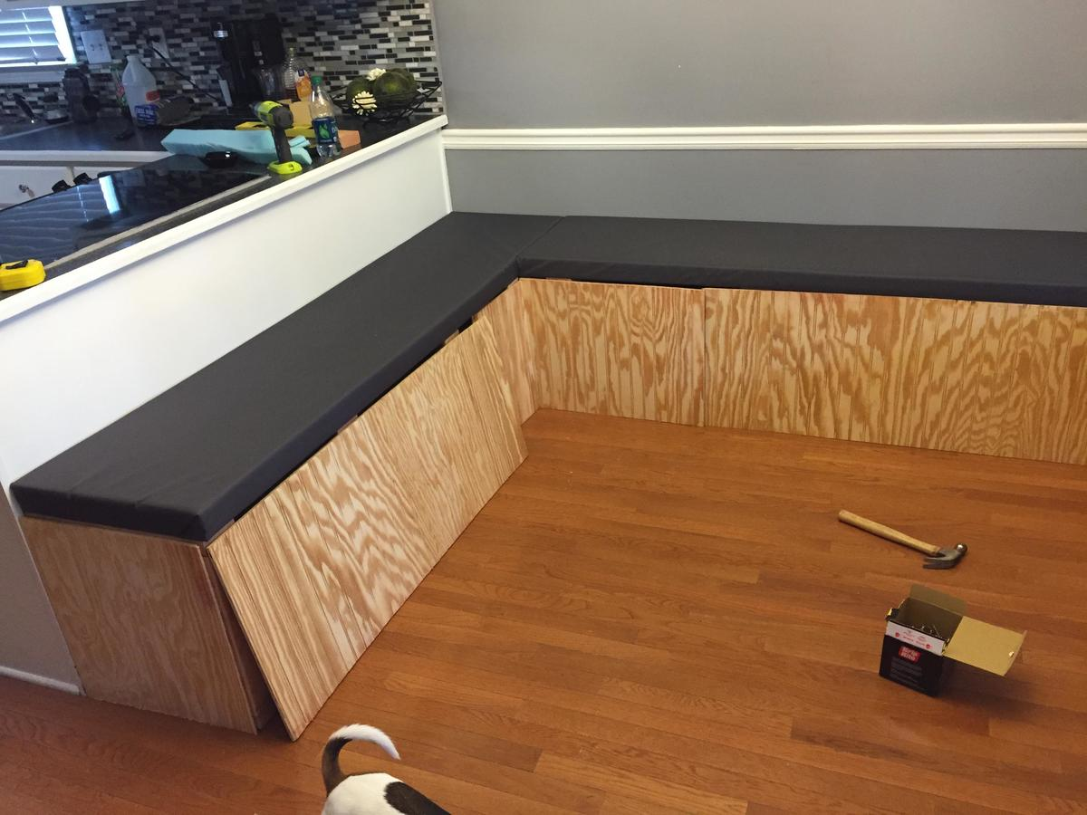 beadboard was added to the booth's facing