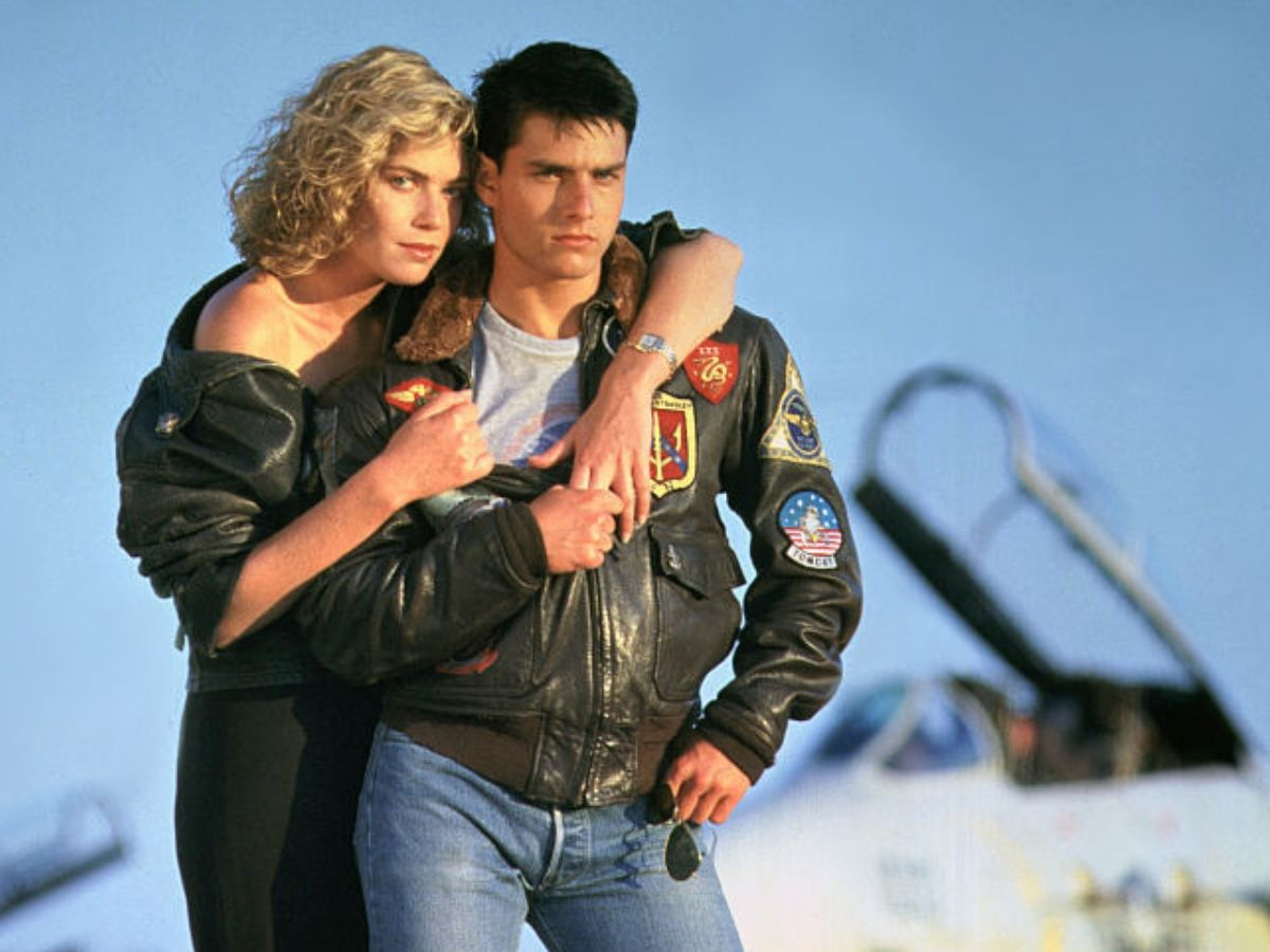 kelly mcgillis and tom cruise in top gun