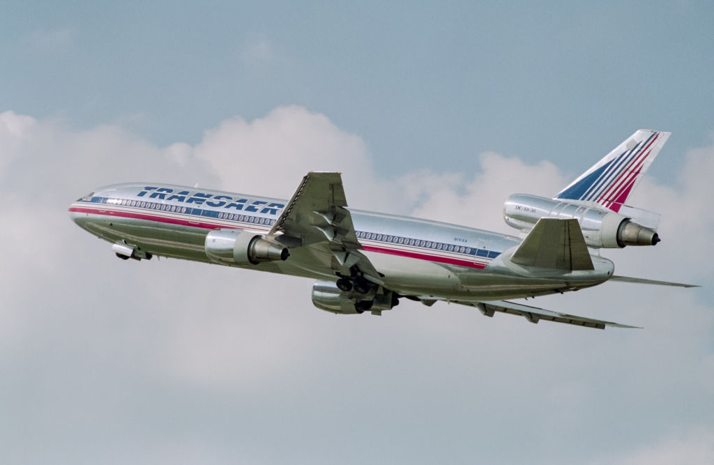 he McDonnell Douglas DC-10-30 widebody jet airplane