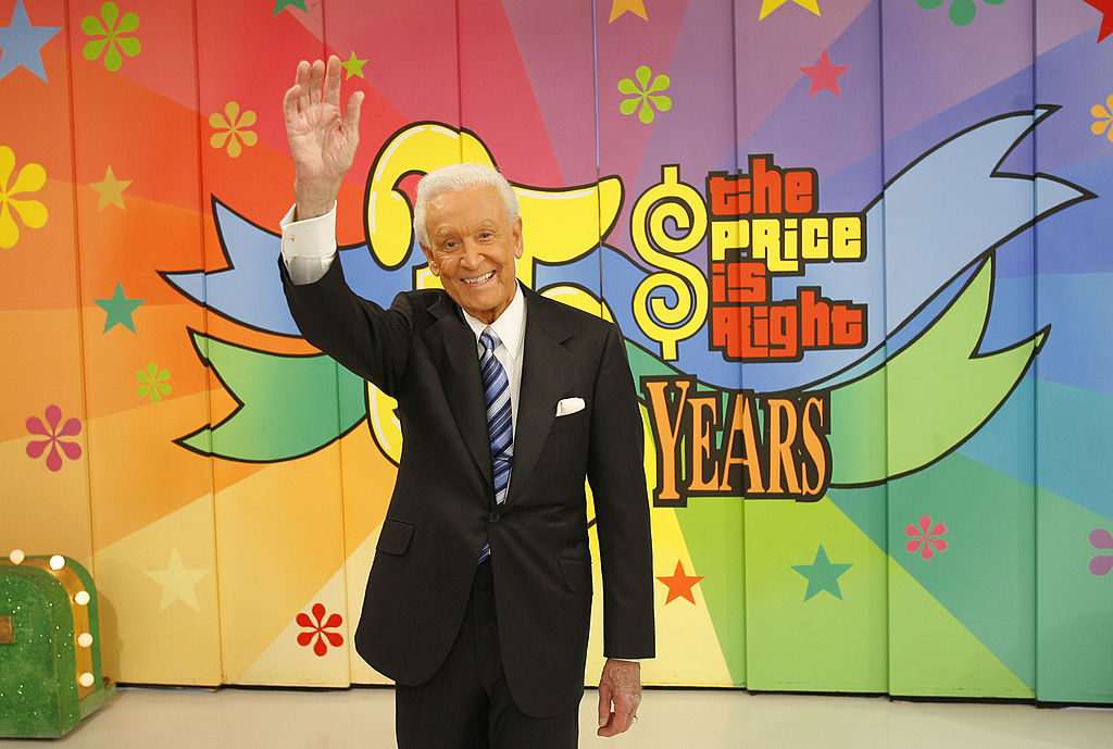 Television host Bob Barker poses for photographers