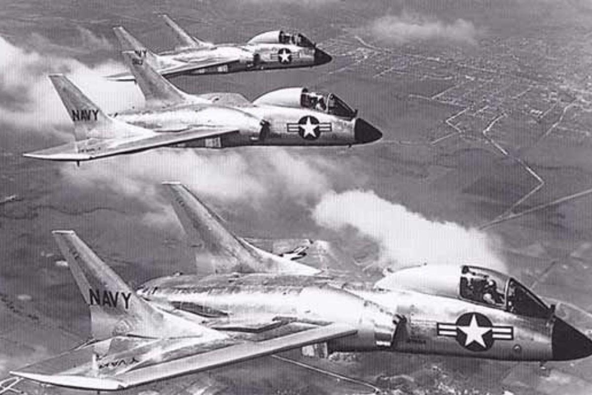 three vought f70 cutlass flying