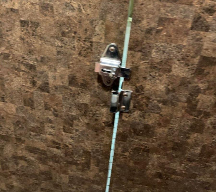 a bathroom door lock that doesn't line up