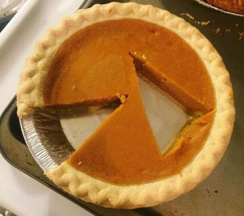 someone cut a slice of pie out of the middle