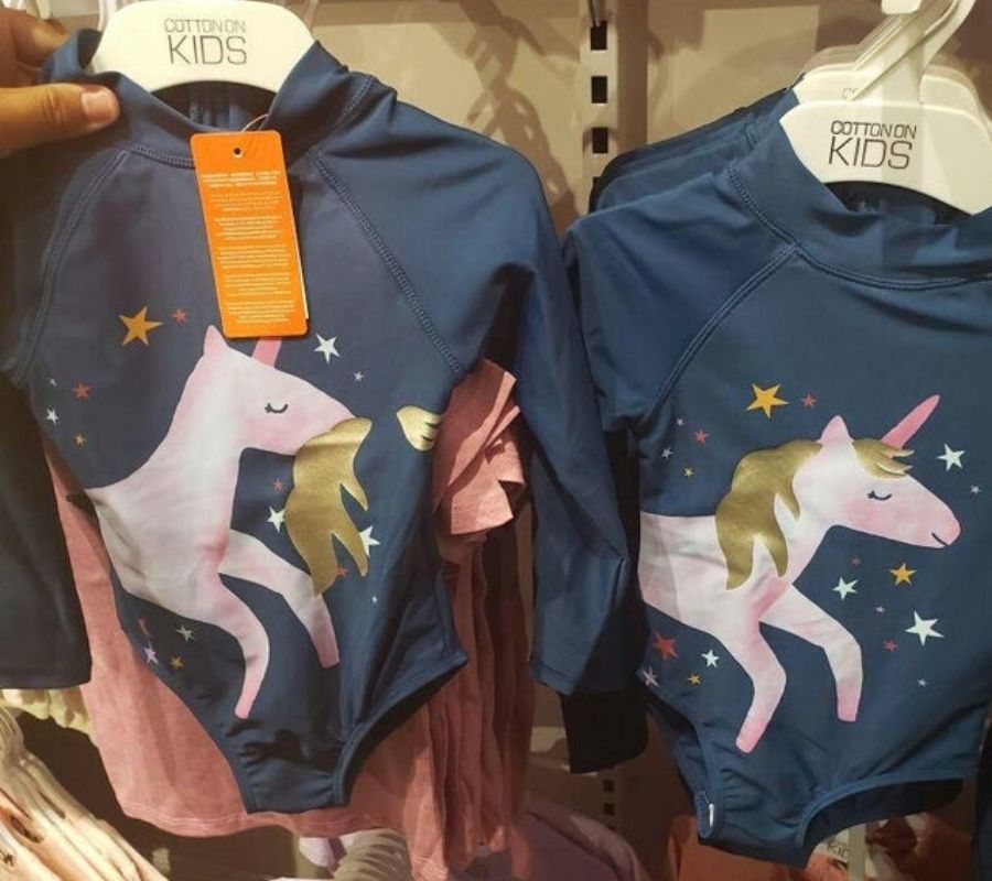 a shirt with a unicorn on it with the mane in the wrong place