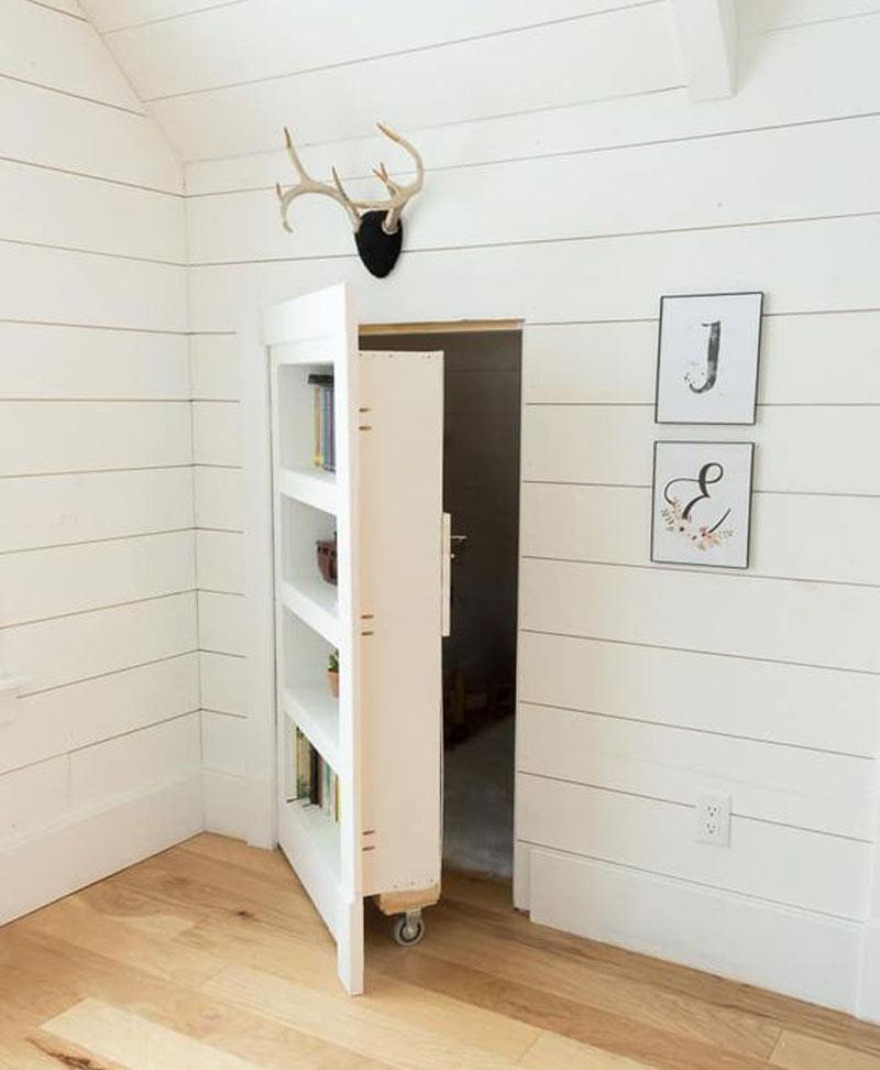 Rolling-door in the wall