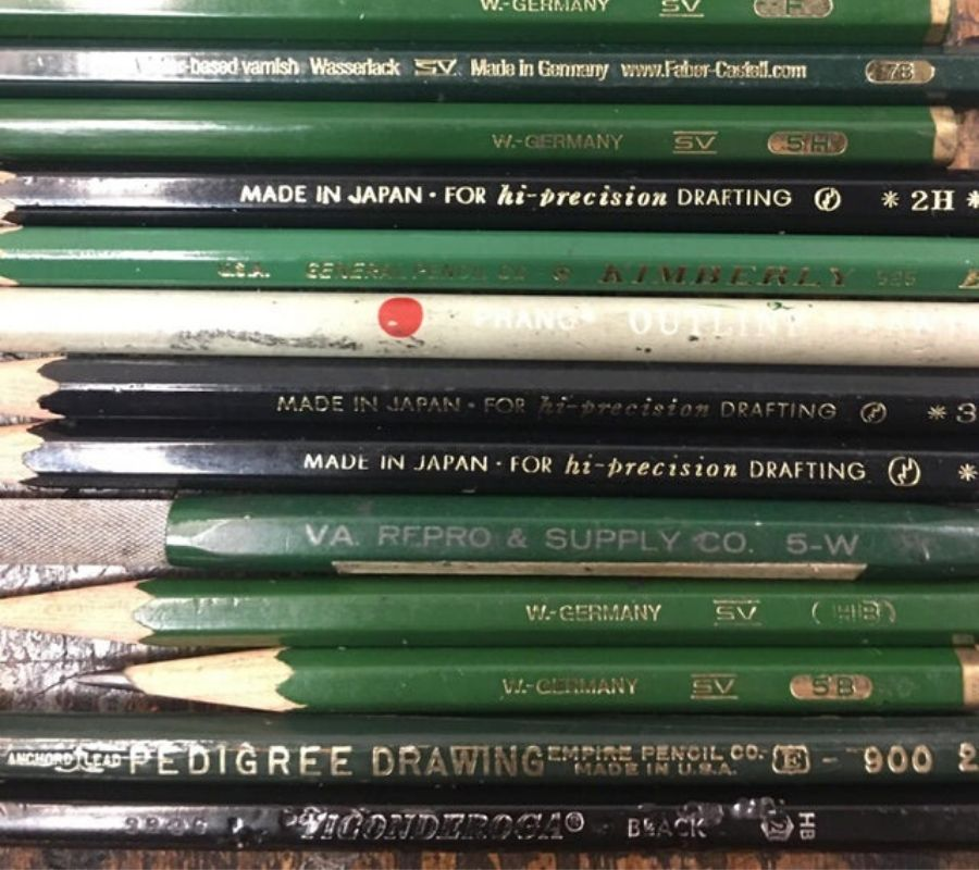 really old pencils, some were made in West Germany