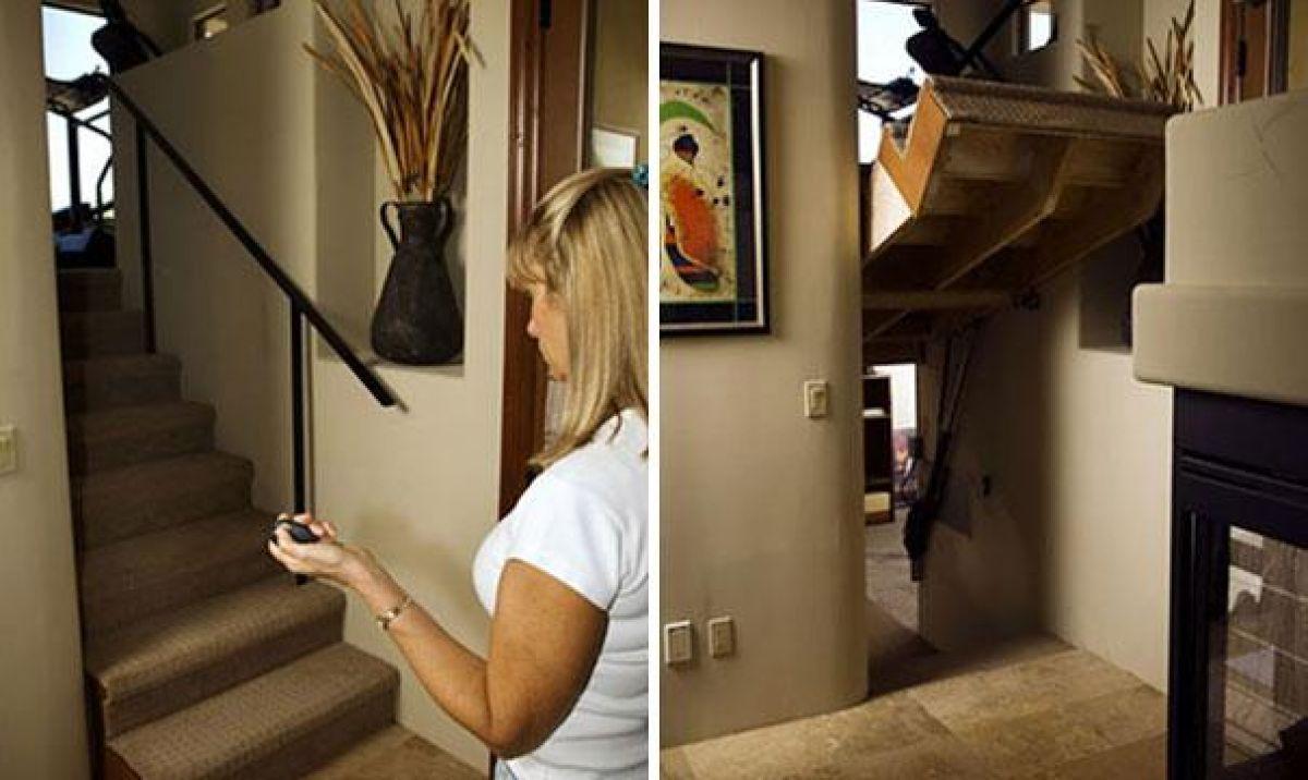 set of hidden stairs