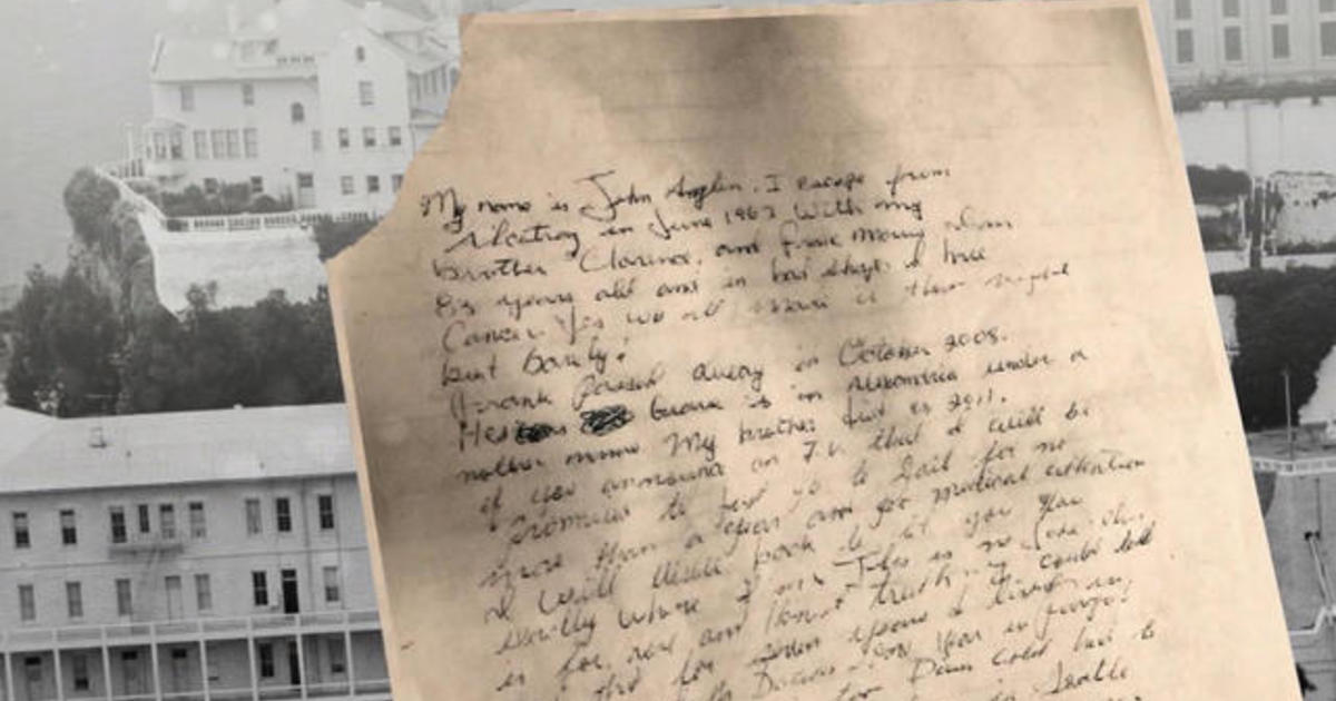 letter supposedly written by john anglin