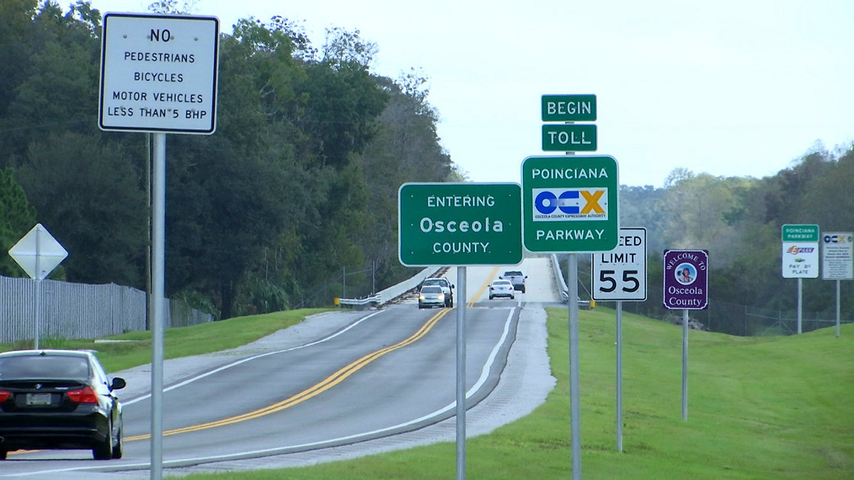 sign saying that you are entering osceola county