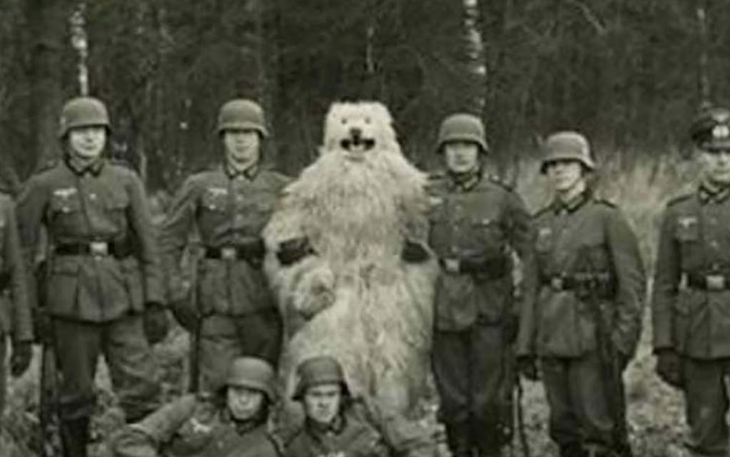 Nazis with bear