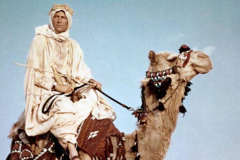 O'Toole riding a vcamel.