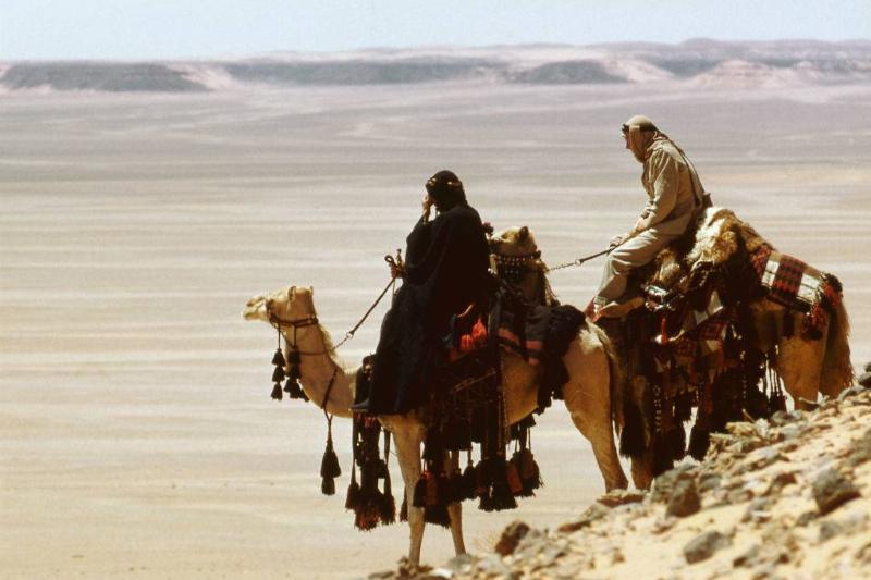 Actors on camels