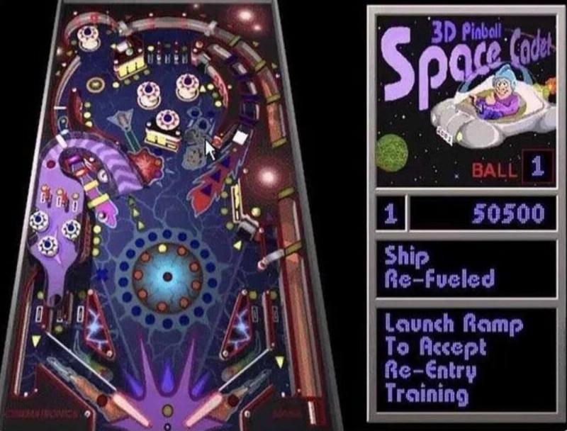 space cadet pinball game