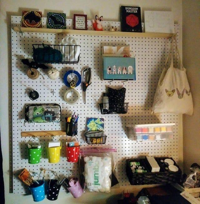 peg board organized