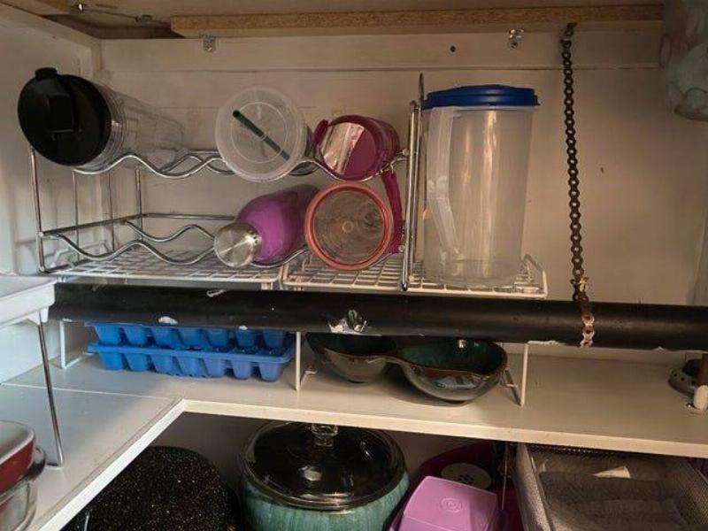 cabinet under sink organized