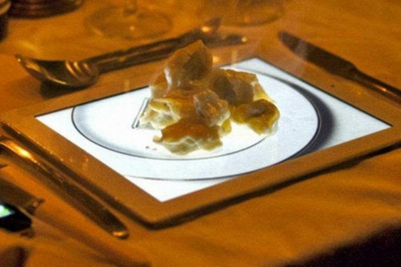 dessert served on ipad
