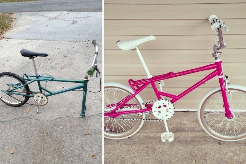 some restored their childhood bike