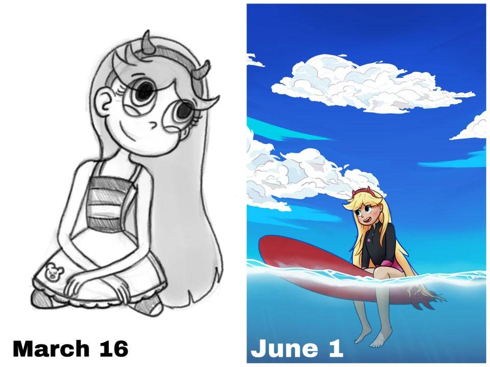 drawing progress form a month