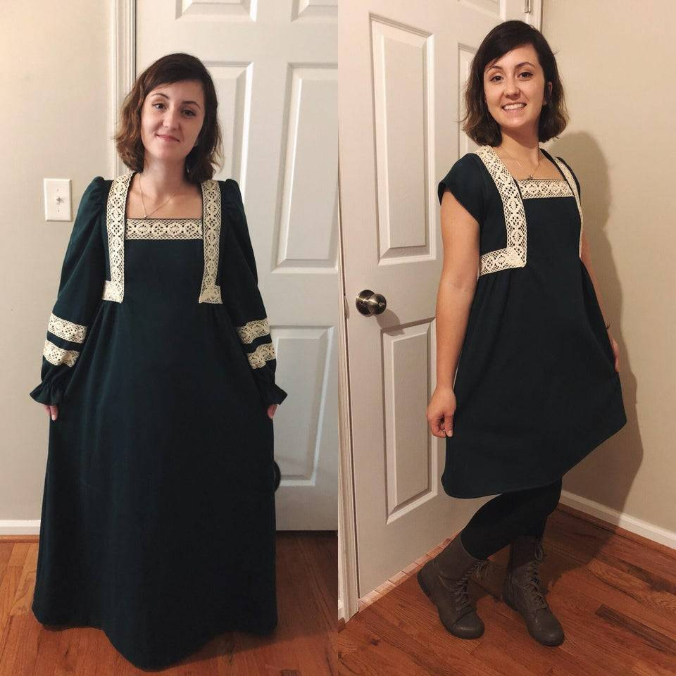 person remade a dress that used to belong with her nana