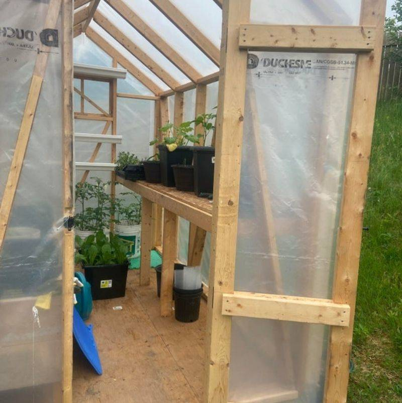 a greenhouse that someone built