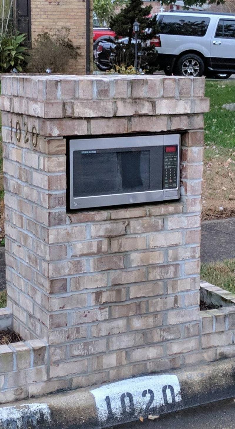 microwave as a mailbox