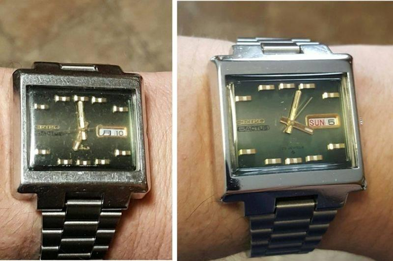 someone refinished their dad's favorite watch